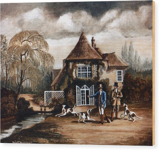Th Hunting Lodge. Wood Print by James Richardson