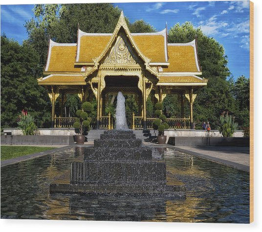 Thai Pavilion - Madison - Wisconsin Wood Print