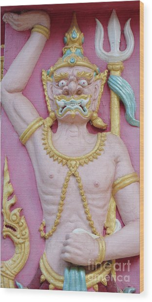 Thai Temple Art I Wood Print