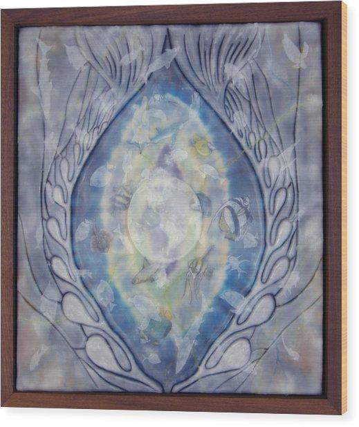Thalassa Goddess Of The Sea Wood Print by Elizabeth Comay