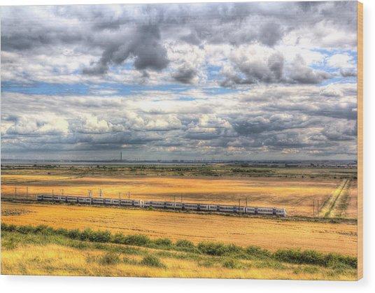 Thames Estuary View Wood Print