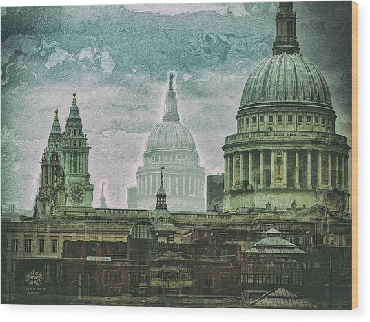 Thamesscape 2 -  Ghosts Of London Wood Print