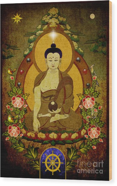 Thangka Painting Wood Print