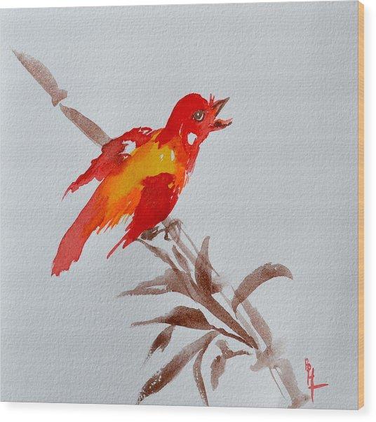 Thank You Bird Wood Print