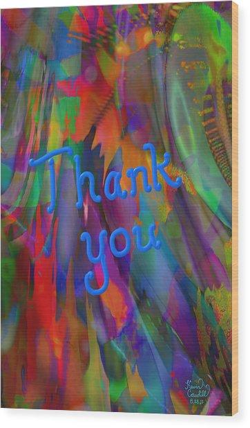Thank You Wood Print