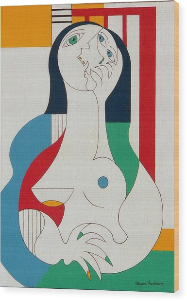 Thanks Wood Print by Hildegarde Handsaeme