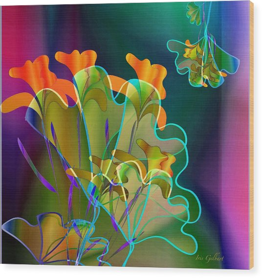 Thanksgiving Bouquet Wood Print