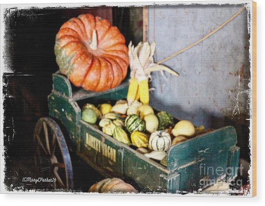 Thanksgiving  Harvest      Wood Print