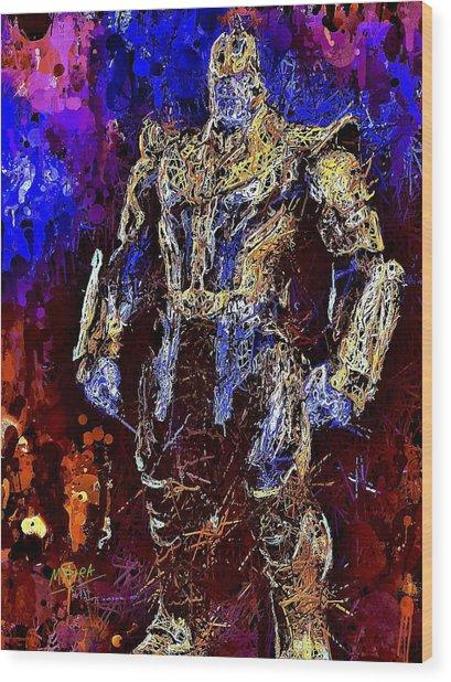 Thanos Wood Print