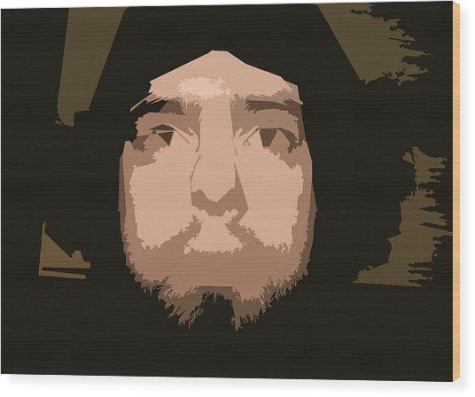 That Guy Again Wood Print by Joshua Sunday