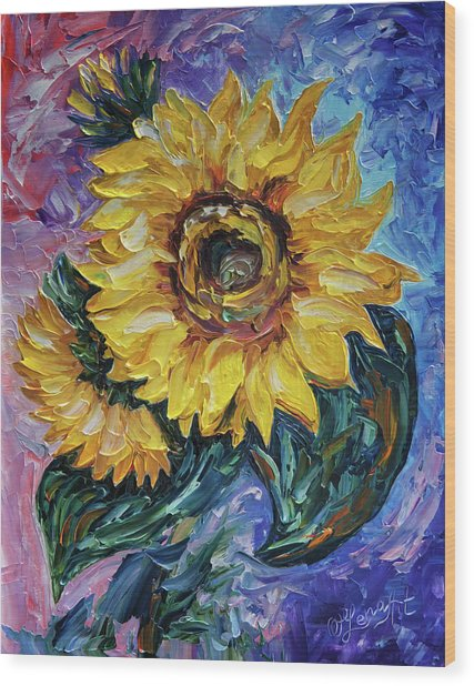 That Sunflower From The Sunflower State Wood Print
