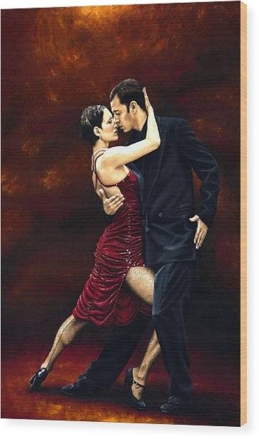 That Tango Moment Wood Print