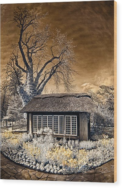 Thatched Cottage Wood Print
