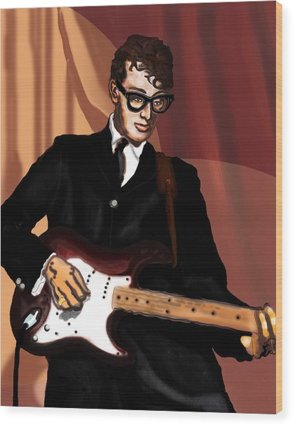 That'll Be The Day- Buddy Holly Wood Print