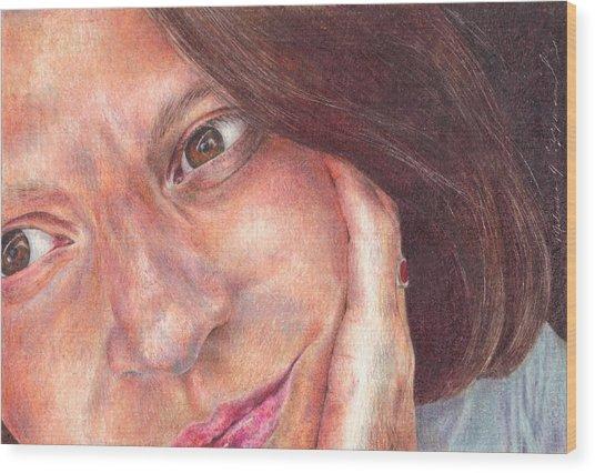 That's Me  Wood Print by Melissa J Szymanski