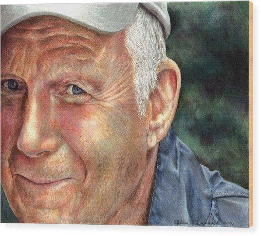 That's My Dad Wood Print by Melissa J Szymanski