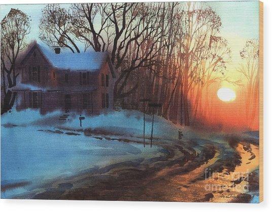 Thaw Wood Print