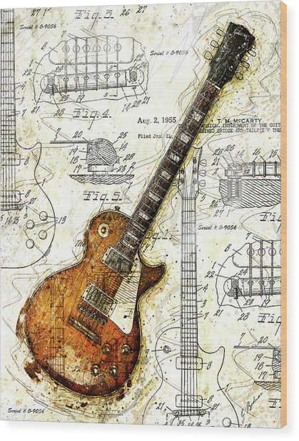 The 1955 Les Paul Custom Wood Print