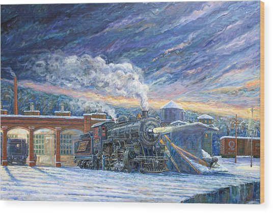 The 501 In Winter Wood Print by Gary Symington