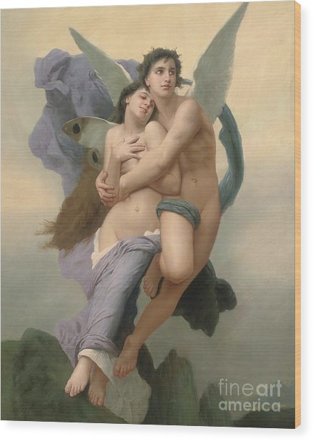 The Abduction Of Psyche Wood Print