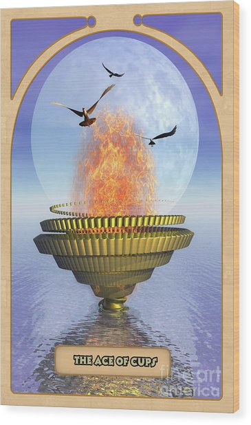 The Ace Of Cups Wood Print