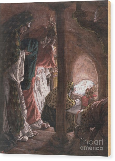 The Adoration Of The Wise Men Wood Print