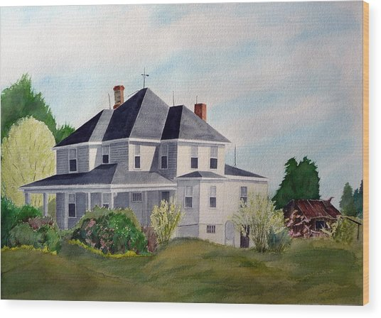 The Adrian Shuford House - Spring 2000 Wood Print by Joel Deutsch