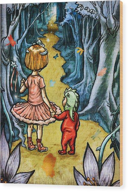 The Adventurers Wood Print by Baird Hoffmire