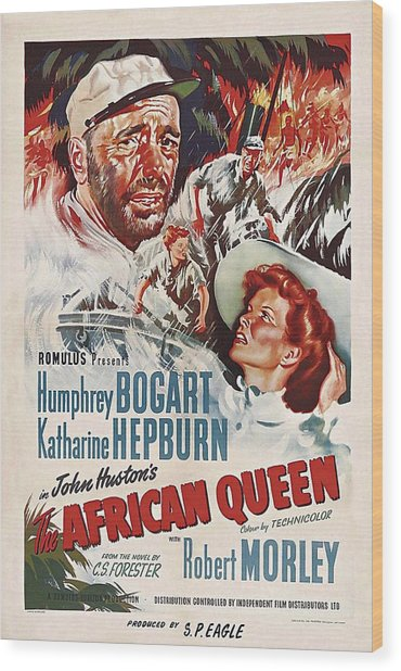 The African Queen B Wood Print