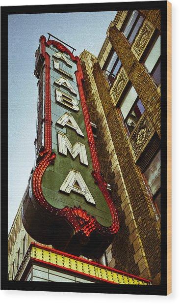 The Alabama Poster Wood Print