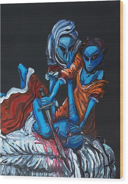 The Alien Judith Beheading The Alien Holofernes Wood Print