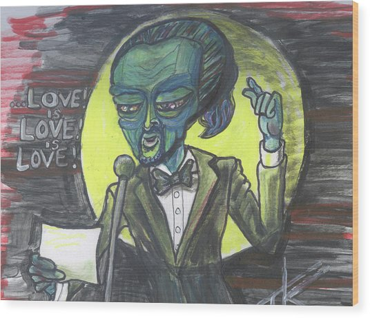 The Alien Lin-manuel Miranda Wood Print