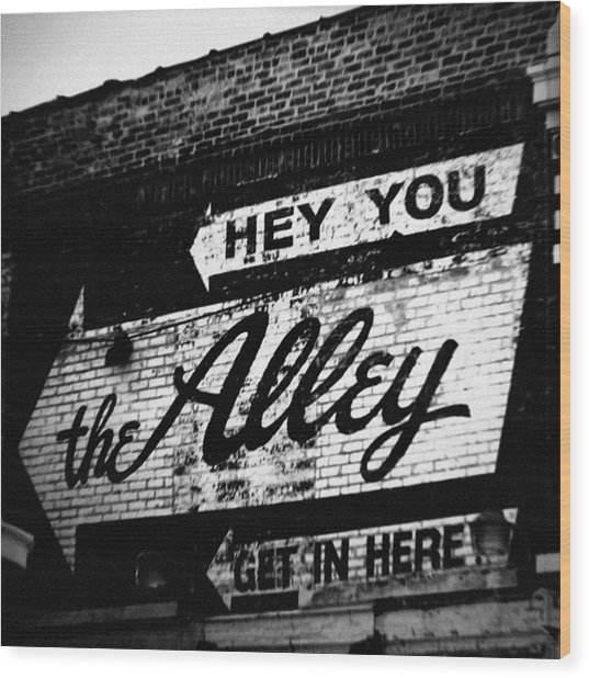 The Alley Chicago Wood Print
