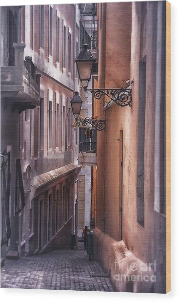The Alleyways Of San Juan Wood Print