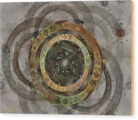 The Almagest - Homage To Ptolemy - Fractal Art Wood Print