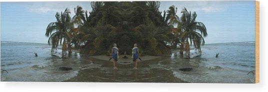 The Amazing Beach Wood Print