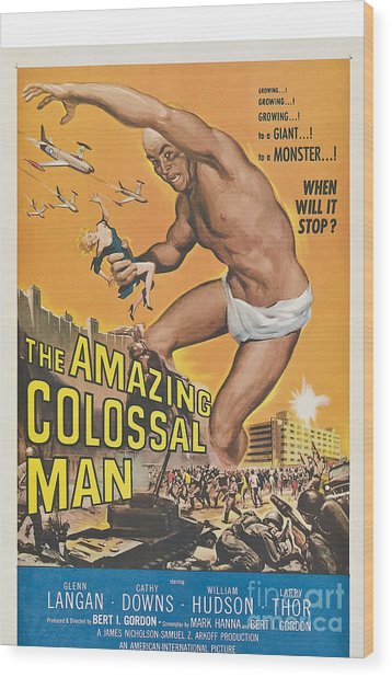 The Amazing Colossal Man Movie Poster Wood Print