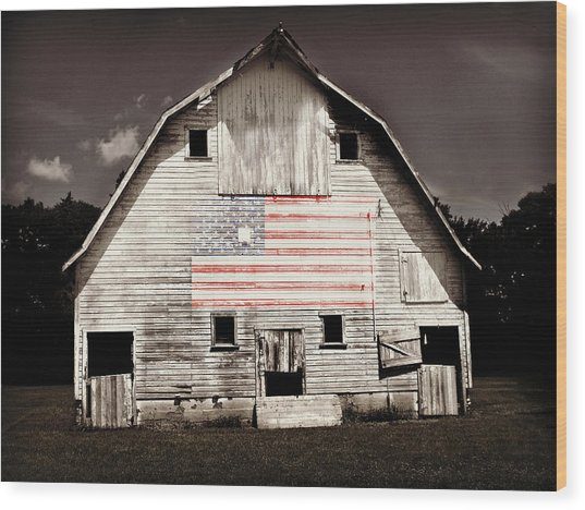 The American Farm Wood Print