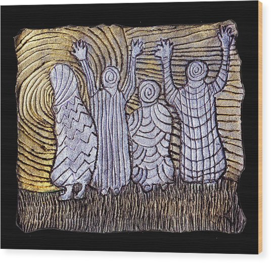 The Ancients Wood Print