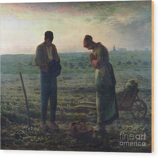 The Angelus Wood Print