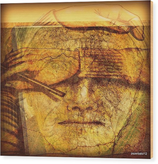 The Anguish Of The Return Lives In Your Eyes Wood Print