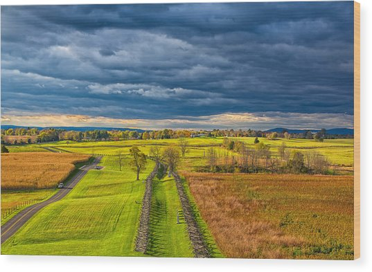 The Antietam Battlefield Wood Print