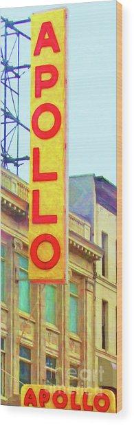 The Apollo Theater In Harlem Neighborhood Of Manhattan New York City 20180501 Wood Print