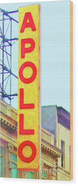 The Apollo Theater In Harlem Neighborhood Of Manhattan New York City 20180501v2 Wood Print