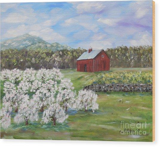 The Apple Farm Wood Print