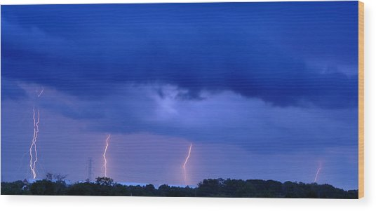 The Approching Storm Wood Print