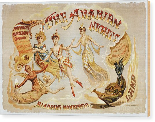 The Arabian Nights Burlesque Wood Print