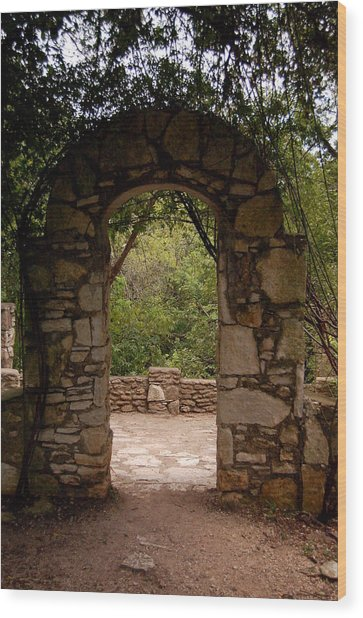The Arch Wood Print by Siobhan Yost