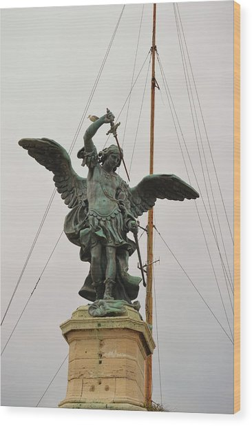 The Archangel Michael Wood Print by JAMART Photography