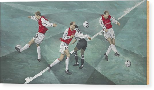 The Architect Of Space Dennis Bergkamp Wood Print